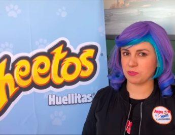 Presentación de Cheetos Huellitas
